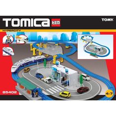 Tomy Tomica Train Track Set Including Car Garage & Lots Of Extras