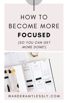 When you're short on time and you have tons to do, you have to get more productive. Learn how to do deep concentrated work and be laser focused on your priorities and tasks. This post presents 9 easy ways you can become more focused with actionable ideas, hacks, and tips so you can start being more productive and getting more done. Click through to read the full post! Includes a free guide checklist! Seo Marketing, Affiliate Marketing, Introductory Paragraph, It Gets Better, Better Life, Coaching, How To Find Out, How To Become, Organize Your Life