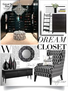 Dream Closet by maddylilcorner. Features our Protege Wing Chair.