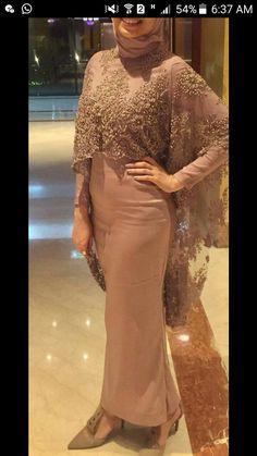 Hijab Evening Dress, Hijab Dress Party, Hijab Style Dress, Hijab Wedding Dresses, Wedding Dress Sleeves, Lace Dress, Evening Dresses, Abaya Fashion, Fashion Dresses