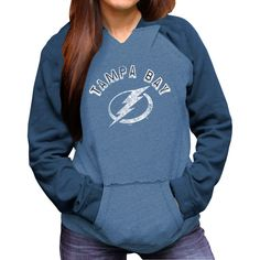 Original Retro Brand Tampa Bay Lightning Women's Relaxed Pullover Hoodie - Light Blue - $37.99