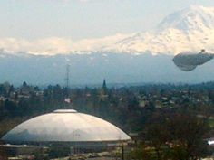 Mount Ranier and the Tacoma Dome. Home of my second home!