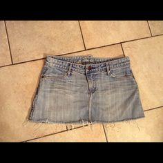Earnest Sewn Denim Mini Skirt Good condition. (A) Ernest Sewn Skirts Mini