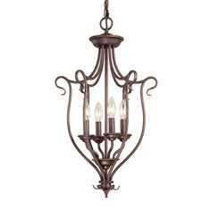 Shop Livex Lighting  6137-91 4 Light Coronado Foyer Light at ATG Stores. Browse our foyer lighting, all with free shipping and best price guaranteed.