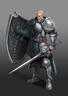 This knight would make the perfect bodyguard