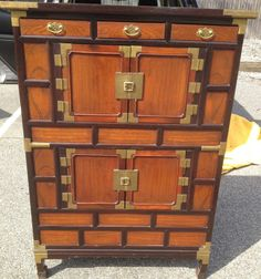 BEAUTIFUL HIGH QUALITY ORIGINAL CHINESE HAND MADE CABINET w/ BRASS HARDWARE Chinese Furniture, Brass Hardware, Chinoiserie, Furniture Making, Contemporary, Modern, Rooms, Asian, Traditional
