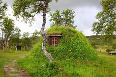 """A Gamme, the traditional house of the Sami people of Norway."""