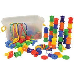 Buttons  Spools Lacing Set