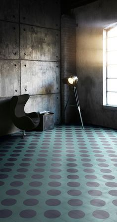 From Bisazza's and India Mahdavi's cement tile collaboration. Sexy.