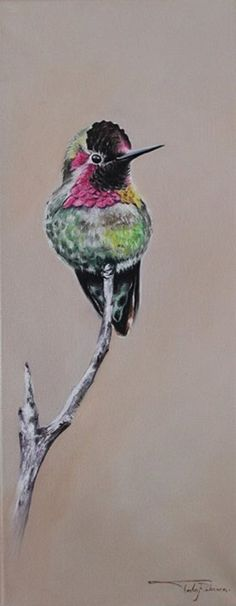 "Oil painting by Rebecca Tecla ""Bird #5"""