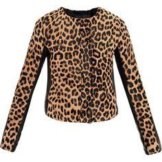 A.L.C. Leopard Fur Savile Jacket as seen on Paris Hilton