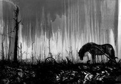 jim Kay - War Horse, from 'The Great War', Walker Books.