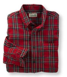 Scotch Plaid Flannel Shirt: Button-Front | Free Shipping at L.L.Bean