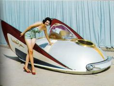 (via 1950s Futuristic Vehicle Concept | The Only Way To Travel | Pinterest)