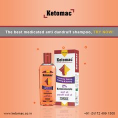 Ketomac Dandruff Treatment Shampoo is used for the prevention and treatment of dandruff. It treats flaking, scaling, itching, dandruff and also helps to relieve inflammation due to dandruff..  #ketomac #shampoo #dandruff #antidandruff