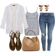 White Blazer - Plus Size #plussize
