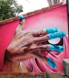 Street Art by Pyrate Ratpy Best Street Art, 3d Street Art, Amazing Street Art, Street Artists, Murals Street Art, Street Art Graffiti, Mural Art, Airbrush Art, Banksy