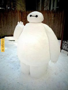 Me and my GF built a 5ft tall snow baymax today! Took 3 days  | For more #cool #funny #gif #gags #comic #cute #adorable #meme #humor like this , visit CheeseFeed.co/ :)