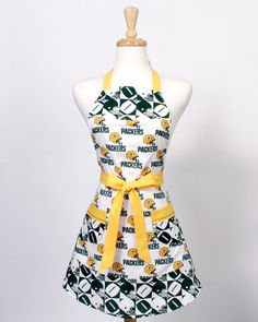 Packers Apron NFL football Green Bay Packers by apronqueen on Etsy