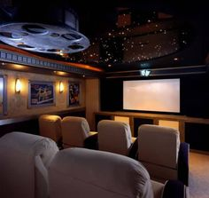 33 The Best Home Theater Design Ideas For Small Rooms - Are you searching for some interesting home theater ideas for planning your own in home entertainment? Whether you are designing a new home theater ad. Home Theater Furniture, Home Theater Decor, Best Home Theater, At Home Movie Theater, Home Theater Speakers, Home Theater Rooms, Home Theater Seating, Home Theater Design, Cinema Room