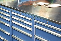 Stainless steel cabinet covers and tops
