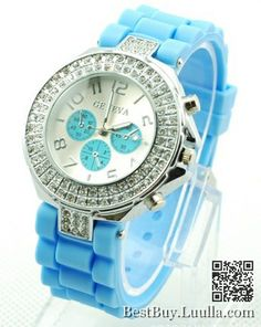 Women Jelly Wristwatch Luxury Crystal Watches 8colors