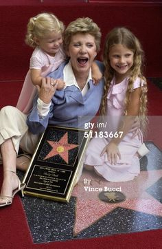 Actress Patty Duke and granddaughters Elizabeth (L) and Alexandra Astin attend a ceremony honoring Duke with a star on the Hollywood Walk of Fame August 2004 in Hollywood, California. (Photo by Vince Bucci/Getty Images) Hollywood Boulevard, Hollywood Walk Of Fame, Mackenzie Astin, Famous Celebrities, Celebs, Patty Duke Show, Cry Like A Baby, Celebrity Siblings, Stars Then And Now
