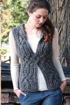Womens Hand Knit Wool Vest – Knitting patterns, knitting designs, knitting for beginners. Knitting Daily, Hand Knitting, Knitting Patterns, Wool Vest, Knit Vest, New Fashion Clothes, Fancy Dress Outfits, Vest Pattern, Free Pattern