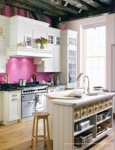 pink kitchen by cooper3k1
