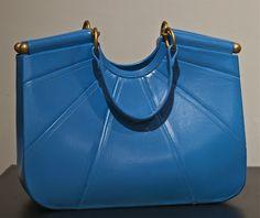 Blue clay purse.