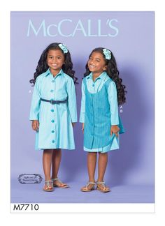 McCall's Sewing Pattern Children's/Girls' Dress and Pinafore Sewing Patterns For Kids, Mccalls Sewing Patterns, Cute Young Girl, New Girl, Kids Wear, Kids Girls, Girls Dresses, Coat, How To Wear