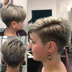 Short Shaved Hairstyles, Short Sassy Haircuts, Edgy Short Hair, Super Short Hair, Short Hair Older Women, Haircuts For Fine Hair, Short Hair With Layers, Cute Hairstyles For Short Hair, Curly Hair Styles