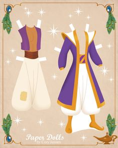 aladdin paper dolls 3 | paper dolls by cory