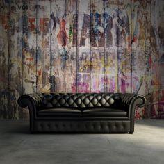 Hey, look at this wallpaper from Rebel Walls, Graffiti on Boards! #rebelwalls #wallpaper #wallmurals