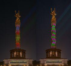 ღღ Berlin - Siegessäule (Goldelse) at the Festival of Light - BL by Frank Haase on 500px