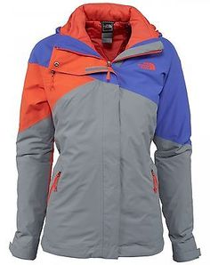 North Face Cinnabar TriClimate Womens CA22-DZP Purple Grey Orange Jacket Size M