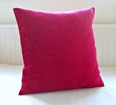 accent pillow cover cerise fuchsia pink cushion by LittleJoobieBoo, £14.50