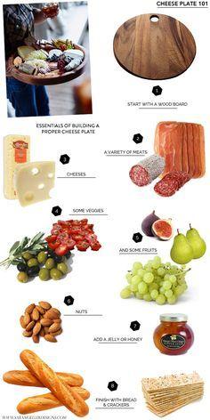 Lo que una tabla de quesos debe contener