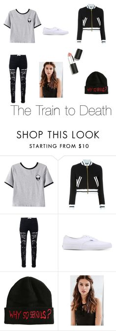 """""""Ashton- The Train to Death"""" by nargles-r-4-real ❤ liked on Polyvore featuring Chicnova Fashion, Moschino, Vans, REGALROSE, Sigma Beauty and HarryPotterForever"""