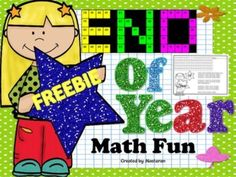 Free End Of Year Math Fun Perfect for celebrating End Of Year. This packet includes 5 charts and their answer keys. Your students will practice their math skills using color by code. Teaching Aids, Teaching Tools, Teaching Math, Kindergarten Math, Second Grade Math, 4th Grade Math, Grade 3, End Of Year Activities, Math Activities