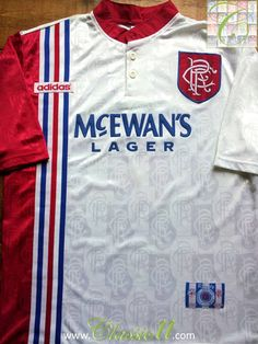 Relive Glasgow Rangers  1996 1997 season with this vintage Adidas away football  shirt. 9fc0225d1