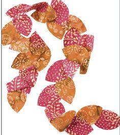 Leafy Batik Scarf