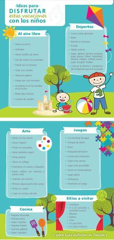 Encuentra aquí excelentes ideas sobre las actividades que puedes hacer con tus hijos en vacaciones