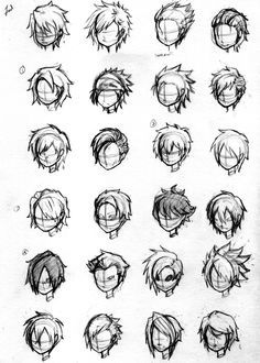 Drawing Techniques, Drawing Tips, Drawing Tutorials, Drawing Games, Boy Hair Drawing, Anime Hair Drawing, Manga Drawing, Guy Drawing, Character Drawing