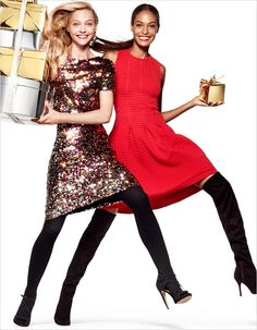 Sasha Pivovarova for H&M Holiday 2014 photographed by Daniel Jackson