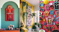 Add a Mexican flair to your home – Design Junkie Mexican Wall Decor, Mexican Restaurant Decor, Mexican Style Decor, Mexican Colors, Mexican Art, Mexican Bedroom Decor, Mexican Style Homes, Restaurant Ideas, Mexican Garden