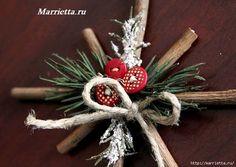 Fiocchi di neve di Natale di ramoscelli