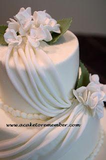 A Cake To Remember VA: How To Do Fondant Draping