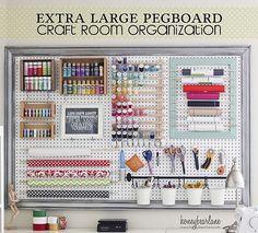 Craft Room Organizational Pegboard