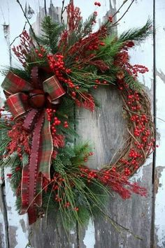 Great Christmas wreath... can I do this with our berry wreath?
